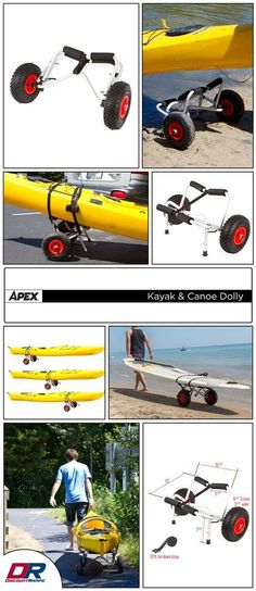 The KC-Dolly saves time and hassle when transporting a boat from the vehicle to a lake or river. Works great as a kayak dolly or canoe dolly! Easily rest a kayak or canoe on the dolly cart platform, strap it down and it's ready to go. Kayak Fishing Tips, Kayaking Tips, Kayak Camping, Sea Fishing, Campsite, Canoe Cart, Kayak Cart, Kayak Accessories, Sports