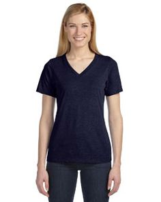 6405 Bella + Canvas Missy's Relaxed Jersey Short-Sleeve V-Neck T-Shirt