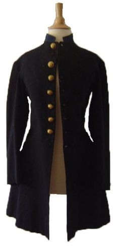 19th Century Military Uniform: Massachusetts Militia Civil War Frock Coat.  Museum deaccessioned from the National Heritage Museum, Lexington, Massachusetts. I www.SarahElizabethGallery.com