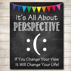 Guidance Counselor Office Decor, Classroom Decor, High School Classroom Poster, All About Perspective Poster, Teen Psychologist, Therapist