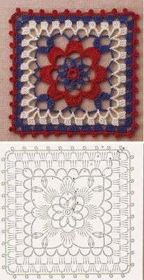 Transcendent Crochet a Solid Granny Square Ideas. Inconceivable Crochet a Solid Granny Square Ideas. Point Granny Au Crochet, Granny Square Crochet Pattern, Crochet Blocks, Crochet Diagram, Crochet Chart, Crochet Squares, Free Crochet, Granny Squares, Crochet Motif Patterns