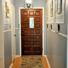 If I could get the cabinets at the end this color, then I could probably swing a blue like this, maybe a little smokier.
