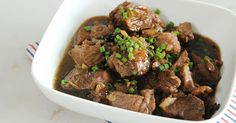 A hearty serving of this Pinoy beef stew recipe pairs perfectly with lots of rice!