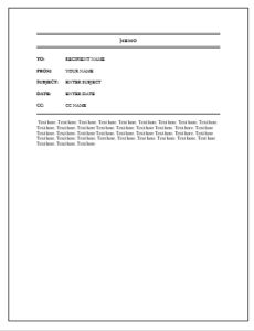 Microsoft Word Memo Format 10 Price List Templates  Word Excel & Pdf Templates  Www .