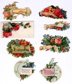 #Victorian #scrap #floral #roses #chromograph #lithograph