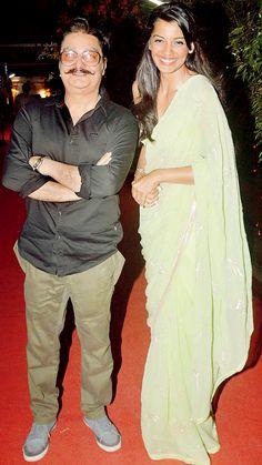 Vinay Pathak and Mugdha Godse at the music launch of a film. #Bollywood #Fashion #Style #Beauty