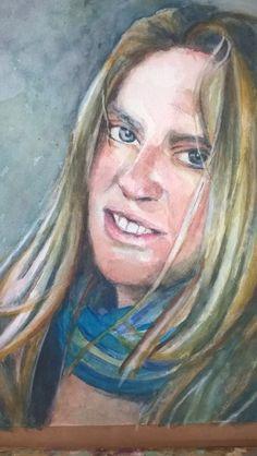 Annelieke, aquarel op papier '15 Painting, Art, Paper, Shop Signs, Art Background, Painting Art, Kunst, Paintings, Performing Arts