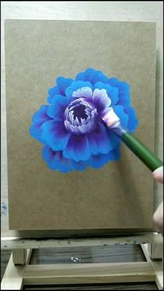 Acrylic Painting Flowers, Acrylic Painting Canvas, Easy Acrylic Paintings, Canvas Painting Tutorials, Diy Canvas Art, Art Painting Gallery, Art Drawings Sketches Simple, Art Lessons, Flower Art
