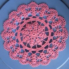 - Small Doily measures 8.5 inches in