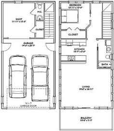 40x28 3 car garage 40x28g10i 1 136 sq ft for 20x40 house layout