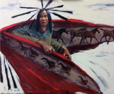 "Mike Larsen (American/Chickasaw, Born 1944)  ""The American Horse"""