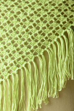 Vane Shawl - free triangular crochet pattern by Universal Yarn.