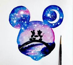 Everyone loves Disney, right ? Double exposure of . - Everyone loves Disney, right ? Double exposure of … – - Disney Art, Disney Kunst, Disney Crafts, Disney Magic, Cute Disney Drawings, Cute Drawings, Drawing Disney, Mickey Mouse Drawings, Dory Drawing