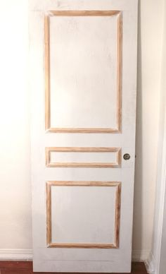 A Door Makeover - would find something to use other than hot glue though