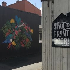 Thanks @floxnz for the gorgeous new view at our. Newmarket store. Come and check it out and pick up a gorgeous flox diary or calendar so that you can stare at the gorgeous art every day! #wallart #artweek #floxnz #mural #artist #streetart #shutthefrontdoorstore #yorkstreet #newmarketnz