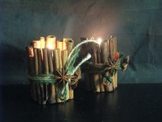 Ideas art for everyone, DIY - Joanna Wajdenfeld: Scented candle holder with cinnamon