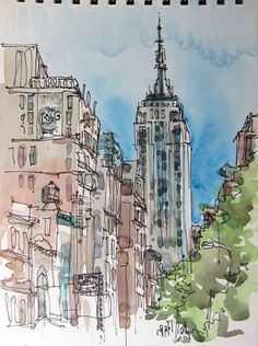 You must check out this outstanding collection of beautiful watercolors of New York City and other places by Suhita at http://sketchaway.wordpress.com/