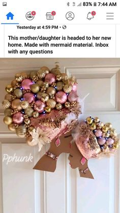 Diy Home Crafts, Creative Crafts, Fun Crafts, Arts And Crafts, Paper Crafts, Christmas Time, Christmas Wreaths, Christmas Crafts, Christmas Decorations