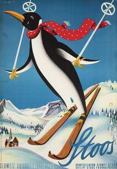 Viel los in Stoos: Ein Pinguin auf Skiern? Die Welt wäre schöner, wenn man auch...