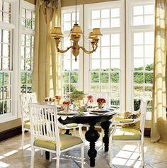 Breakfast Room Design Ideas « The Frusterio Home Design Blog--love the windows!