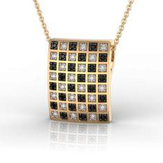 Check-mate in Yellow Gold Pendant Gold Pendant, Pendant Necklace, Diamonds And Gold, Pink And Gold, Diamond Jewelry, Jewelry Collection, Pendants, Random, Check