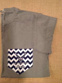 Comfort Colors Air Force pocket T-shirts. on Etsy, $20.00