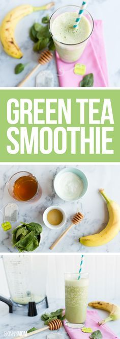 Sneak in some spinach with this sweet, smooth drink!