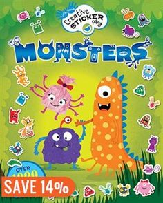 Monsters: Over 1000 Reusable Stickers! Book by Lisa Regan | Trade Paperback | chapters.indigo.ca