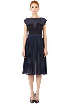 65acfa33994ac Lace Panelled Midi Dress. She s A Lady