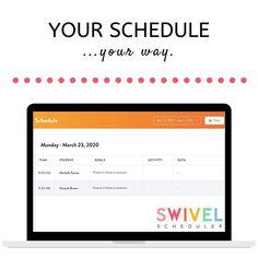 SWIVEL is here to simplify scheduling for you so you can go into each day feeling organized and on top of the SLP world! Simply enter your student's goals, choose the number of sessions you want to work on each goal, choose your days/times, and VOILA,