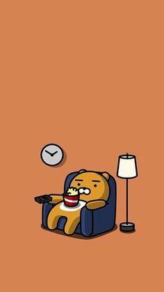 카카오프렌즈 라이언 핸드폰 배경화면!! K Wallpaper, Kawaii Wallpaper, Cute Wallpaper Backgrounds, Cute Cartoon Wallpapers, Travel Wallpaper, Bright Wallpaper, Ryan Bear, Kakao Ryan, Cute Lockscreens