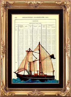 Happy Sailing Vintage Nautical Almanac