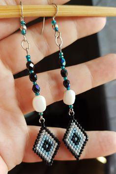 boucles d'oreille miyuki perles a facettes