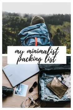 Discover ideas for your travel packing list wih this minimalist packing list guide. Create a list of your own that fully covers your needs while abroad. Packing List For Travel, Travel Tips, Vegan Food, Vegan Recipes, Minimalist Packing, Pack Your Bags, Traveling By Yourself, Veggie Food, Travel Advice