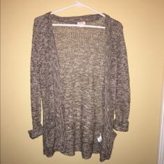 Mossimo Knit Cardigan super comfy size medium, brown and creamish in color, brand new perfect condition Mossimo Supply Co. Sweaters Cardigans