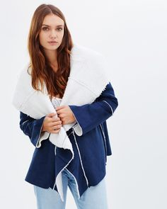 Somedays Lovin On and On Shearling Jacket Coats & Jackets
