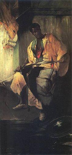 Moorish Nobleman - Zmurko, Franciszek (1859-1910) - 1884 (Lviv Art Gallery, Poland) #Moors #Moorish #Moor #African