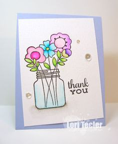 Card by SPARKS DT Lori Tecler PS stamp sets: Best Buds, Lovely Thoughts