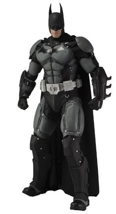 Batman Figure from Batman Arkham Origins, NECA 61240 Batman Figure from Batman Arkham Origins. It is made by NECA and is 1:4 scale (approx. 46cm / 18.1in high).    Straight from Batman: Arkham Origins, the latest chapter in the Arkham saga, Batman stands 18″ tall and features over 25 points of articulation, a real fabric cape, and accessories which include Batarang and grapnel gun.  #NECA #Character