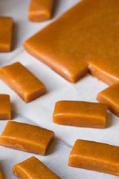 Apple Cider Caramels - Cooking Classy These look delicious Caramel Apple Cider Recipe, Caramel Recipes, Candy Recipes, Apple Recipes, Fall Recipes, Holiday Recipes, Dessert Recipes, Desserts, Microwave Caramels