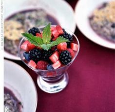 Yummy summer berry salad. All of this summery food is looking far too tasty on the 31st of January.