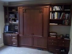 murphy bed desk Home Office Traditional with none