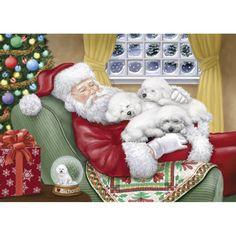Bichon Frise Christmas Cards - The Danbury Mint