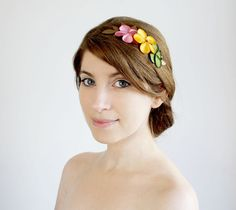 Spring blossom hair comb flowers Hair accessory by SchickiMickis, $50.00