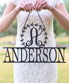 This Unfinished Wood Personalized Wreath Wall Sign is perfect! #zulilyfinds