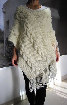 Crochet Shawl, Knit Crochet, Cute Clothes For Women, Poncho Knitting Patterns, Scarf Sale, Knitted Cape, Christmas Fashion, Sweater Fashion, Crochet Clothes