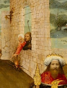 """The Adoration of the Magi"" (detail), c.1470-75, Hieronymus Bosch."