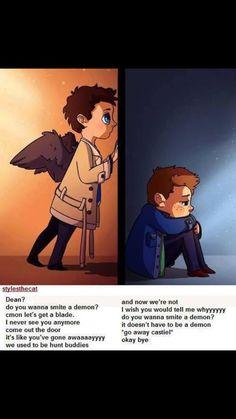 Cas & Dean (Destiel) Do you wanna smite a demon?