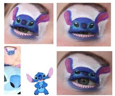 Creepy stitch eye makeup is awesome