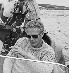 Steve McQueen had a knack for looking awesome in literally anything he wore, but this is one of the best: a chunky cable-knit fishing sweater—seen here, appropriately enough, on the water, but versatile enough a look that it can be worn on land every bit as stylishly.